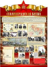 Купить Стенд Сталинградская битва на тему  ВОВ размер 790*1100мм в России от 3430.00 ₽