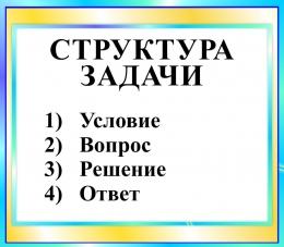 Купить Стенд Структура задачи в бирюзовых тонах 400*350 мм в России от 500.00 ₽