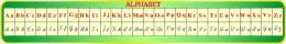 Купить Стенд Таблица Алфавит  для кабинета французского языка 1950*300мм в России от 2088.00 ₽