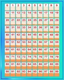Купить Стенд Таблица Стосчёт по методике Зайцева в бирюзовых тонах 600*750 мм в России от 1611.00 ₽