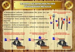 Купить Стенд Техника безопасности при опиливании металла в стиле Стимпанк 1000*700 мм в России от 2499.00 ₽