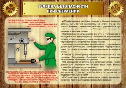 Купить Стенд Техника безопасности при сверлении в стиле Стимпанк 1000*700 мм в России от 2499.00 ₽