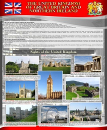 Купить Стенд THE UNITED KINGDOM  OF GREAT BRITAIN AND NORTHERN IRELAND 700*850 мм в России от 2237.00 ₽