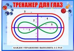 Купить Стенд Тренажёр для глаз в голубых тонах для кабинета химии 370*260мм в России от 357.00 ₽
