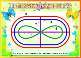 Купить Стенд Тренажёр для глаз в стиле Бабочки 370*260мм в России от 357.00 ₽