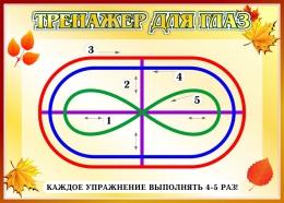 Купить Стенд Тренажёр для глаз в стиле Осень  370*260мм в России от 357.00 ₽