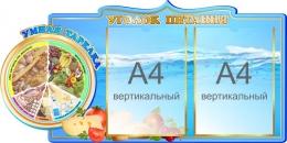 Купить Стенд Уголок питания с умной тарелкой 800*400 мм в России от 1341.00 ₽