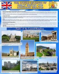 Купить Стенд UNITED KINGDOM в сине-голубых тонах 600*750 мм в России от 1607.00 ₽