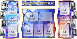 Купить Стенд в кабинет Физики Физика вокруг нас в золотисто-синих тонах 1800*995мм в России от 7634.00 ₽