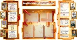 Купить Стенд в кабинет Математики Математика вокруг нас с формулами 1800*955мм в России от 6946.00 ₽