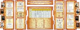 Купить Стенд в кабинет Математики Математика вокруг нас с формулами  2506*957мм в России от 9327.00 ₽