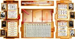 Купить Стенд в кабинет Математики Математика вокруг нас с формулами и тригономертической таблицей в бежево-коричневых тонах 1825*955мм в России от 6786.00 ₽