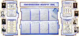 Купить Стенд в кабинет Математики Математика вокруг нас с формулами в синих тонах на фоне тетради 2040*955мм в России от 7748.00 ₽