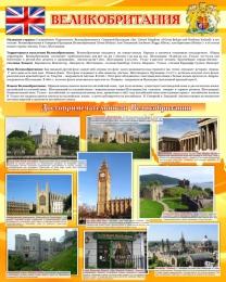 Купить Стенд Великобритания в кабинет английского языка 600*750 мм в России от 1607.00 ₽