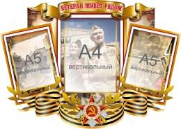 Купить Стенд Ветеран живёт рядом на тему ВОВ 740*560мм в России от 1857.00 ₽