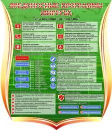 Купить Стенд Вредоносные программы (вирусы) 1000*1150 мм в России от 4244.00 ₽