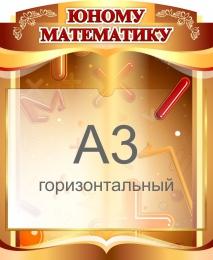 Купить Стенд  Юному математику с карманом А3 460*560 мм в России от 1152.00 ₽