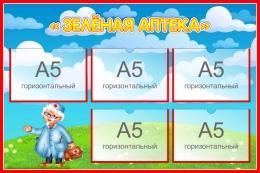 Купить Стенд Зеленая аптека для экологической тропы 750*500 мм в России от 1589.00 ₽