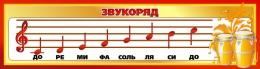 Купить Стенд Звукоряд для кабинета музыки 1500*400мм в России от 2142.00 ₽