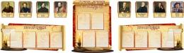 Купить Стендовая композиция В мире  языка и литературы с портретами в стиле Свиток 3300*1000мм в России от 10915.00 ₽