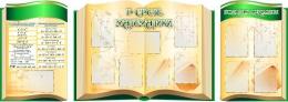 Купить Стендовая  композиция В свете математики в золотисто-зеленых тонах 2800*990мм в России от 10789.00 ₽
