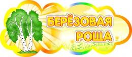 Купить Табличка Берёзовая роща 350*150 мм в России от 257.00 ₽
