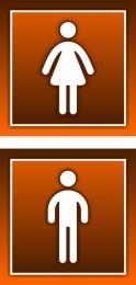 Купить Табличка на туалет 100*100 мм в коричневых тонах в России от 38.00 ₽