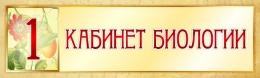 Купить Табличка в Кабинет Биологии в золотистых тонах 330*100 мм в России от 171.00 ₽