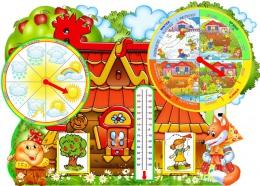 Купить Яркий фигурный стенд Календарь Природы на английском языке 900*650 мм в России от 2479.00 ₽