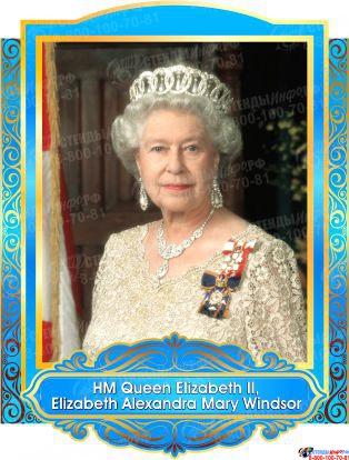 Комплект портретов портретов Знаменитые Британцы в голубых тонах 260*350 мм Изображение #4
