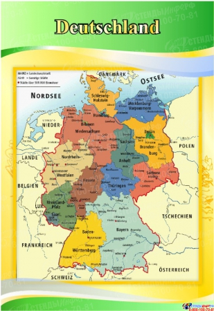 Стенд INTERESSANTE TATSACHEN в кабинет немецкого языка  1700*770мм Изображение #3