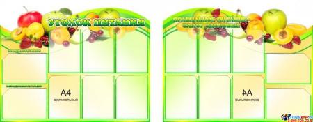 Композиция Стендов Уголок питания с фруктами и Правильное питание- залог здоровья! 2200*850 мм