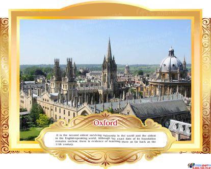 Комплект стендов Достопримечательности Великобритании для кабинета английского языка в золотистых тонах 265*350 мм,  280*350 мм Изображение #8