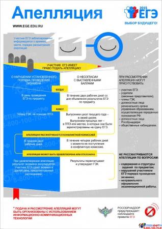 Плакат Информационный  Апелляция 300*420 мм