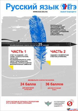 Плакат Информационный  Русский язык 300*420 мм