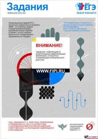 Плакат Информационный  Задания 300*420 мм