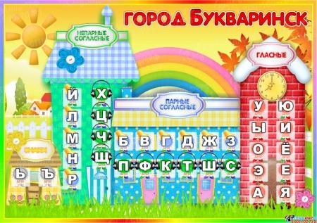 Стенд Букваринск 850*600 мм