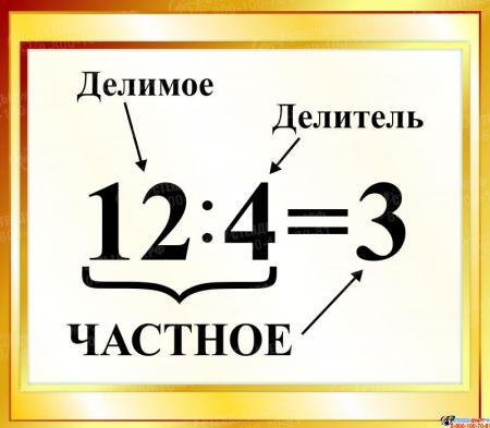 Стенд Частное  для начальной школы в золотистых тонах 400*350мм