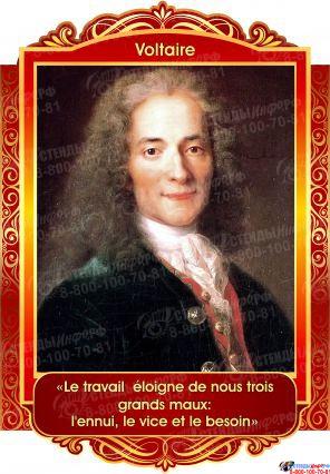 Комплект портретов Знаменитые французкие деятели в золотисто-красных тонах 250*360 мм Изображение #6
