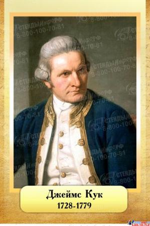Комплект  портретов Знаменитые географы для кабинета географии №1 200*290 мм Изображение #8