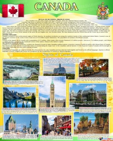 Стенд Достопримечательности Канады на английском языке 600*750 мм