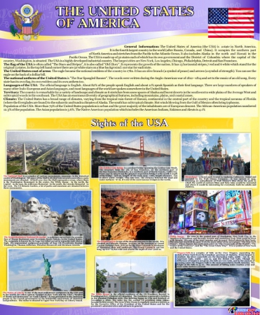 Комплект из 3-х стендов Австралия,США, Великобритания для кабинета английского языка в фиолетовых тонах 700*850мм Изображение #2