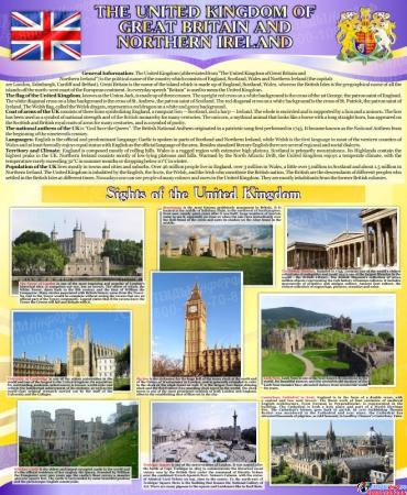 Комплект из 3-х стендов Австралия,США, Великобритания для кабинета английского языка в фиолетовых тонах 700*850мм Изображение #3