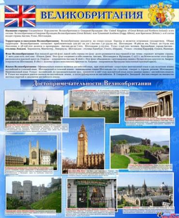 Стенд Достопримечательности Великобритании 700*850 мм