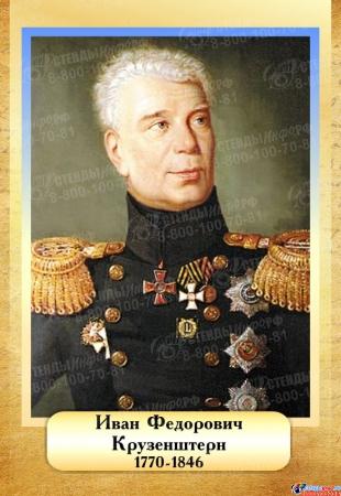 Комплект  портретов Знаменитые географы для кабинета географии №2 200*290 мм Изображение #1