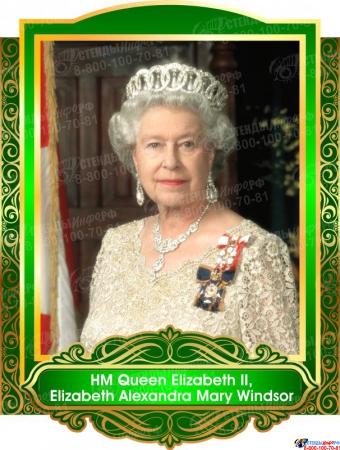 Комплект портретов  Знаменитые Британцы для кабинета английского языка в золотисто-зеленых 260*350 мм Изображение #8