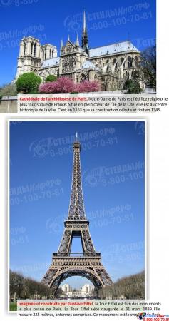 Стенд FRANCE в кабинет французского языка 600*750 мм в золотисто-оранжевых тонах Изображение #3