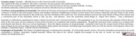 Стенд Достопримечательности Австралии на английском языке в золотисто-зеленых тонах  700*850 мм Изображение #4