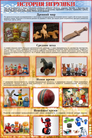 Стенд История игрушки 1000*1500 мм