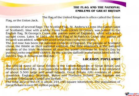 Стенд  Информационный в кабинет английского языка в золотисто-сиреневых тонах №3 1500*700мм Изображение #6